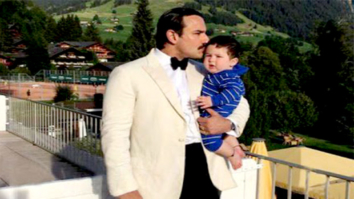 Check out Saif Ali Khan gives a sweet kiss to his son Taimur Ali Khan during their Switzerland vacation