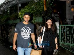 Kunal Khemu and Soha Ali Khan spotted at a cafe in Bandra