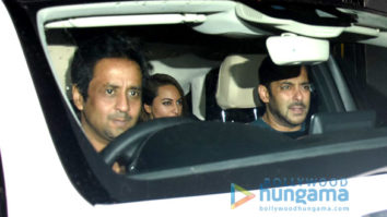 Salman Khan, Sonakshi Sinha and Iulia Vantur snapped post party at close friends place in Bandra