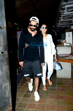 Shahid Kapoor and wife Mira snapped post lunch date at Out of the Blue restaurant in Bandra