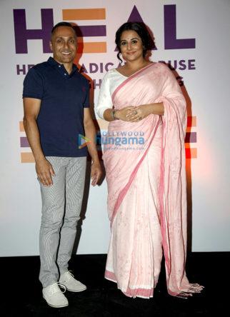 Vidya Balan and Rahul Bose at 'HEAL' organization event against child abuse