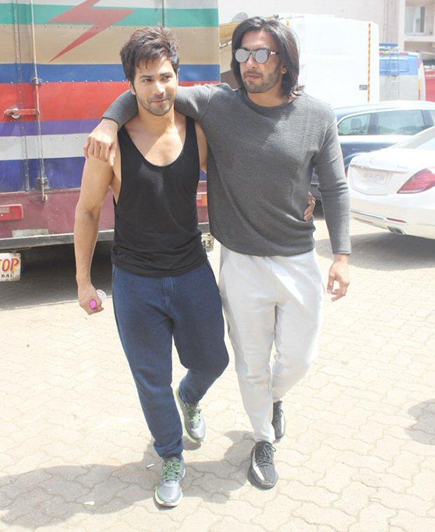 BROMANCE ALERT! Ranveer Singh showers love on Varun Dhawan with a kiss3
