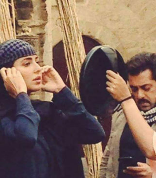 CAUGHT ON SET: Salman Khan and Katrina Kaif prep for a scene for Tiger Zinda Hai