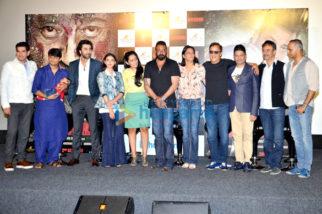Sanjay Dutt, Ranbir Kapoor, Rajkumar Hirani at the trailer launch of 'Bhoomi'