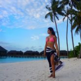 HOT! Shenaz Treasury spotted posing sexily on a cloudy day at Maldives
