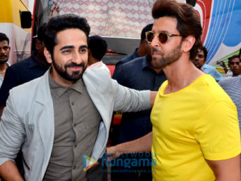 Hrithik Roshan and Ayushmann Khurrana snapped at Mehboob Studio