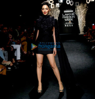 Kiara Advani walks for Hardika Gulati at Lakme Fashion Week 2017