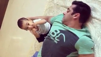 Salman Khan seen rolling on the floor with nephew Ahil
