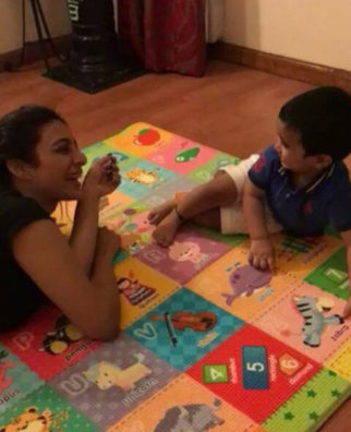 WATCH: Tabu and Tusshar Kapoor's son can't stop laughing in the cutest video while shooting for Golmaal Again!