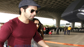 Varun Dhawan snapped with girlfriend at the airport