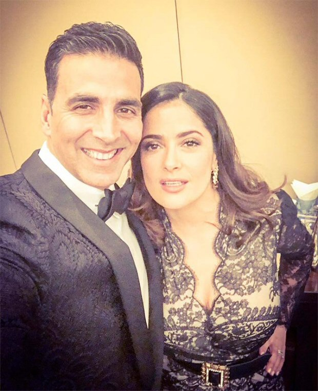 Salma Hayek wishes luck to Akshay Kumar for 'Toilet: Ek Prem Katha'