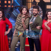 Shilpa Shetty and Riteish Deshmukh snapped on the sets of Lip Sing Battle