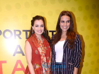 Dia Mirza, Neha Dhupia, and Kunal Kapoor snapped at the Indian Film Project in Worli