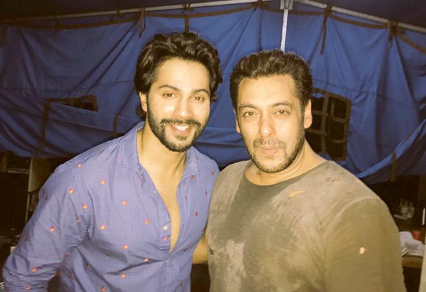 Check out Judwaa 2 Varun Dhawan meets Judwaa 1 Salman Khan; sends kisses on t