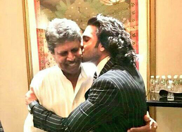 Check out Ranveer Singh's gives a sweet kiss to Kapil Dev; dances with Srikkanth at '83 launch 0(2)