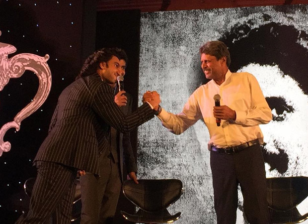 Check out Ranveer Singh's gives a sweet kiss to Kapil Dev; dances with Srikkanth at '83 launch 0(6)