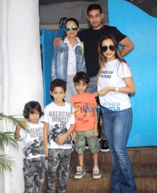 Malaika Arora and sister Amrita Arora snapped at Olive in Bandra
