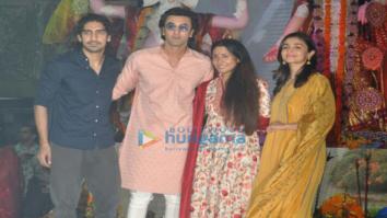 Ranbir Kapoor, Alia Bhatt, Rani Mukherji and others snapped at Durga Pooja in Juhu
