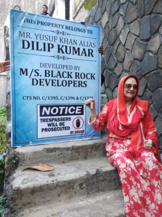 Saira Banu heaves sigh of relief on getting back the iconic bungalow belonging to her husband Dilip Kumar