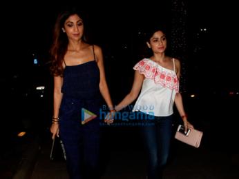 Shilpa Shetty & Shamita Shetty snapped at Yauatcha in Bandra