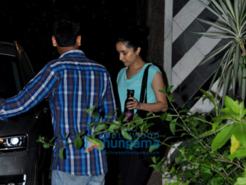 Shraddha Kapoor snapped at the gym in Juhu