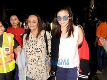 Varun Dhawan, Alia Bhatt and Kangna Ranaut snapped at the airport