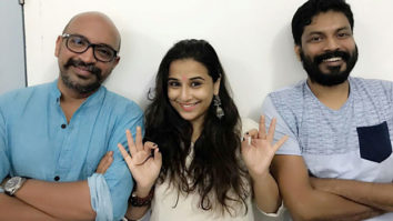 Vidya Balan poses with her 'Mallu' boys on the occasion of Onam