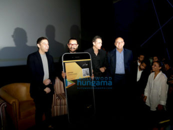 Aamir Khan and Zaira Wasim at the announcement of 'The Privilege Card' of PVR Cinemas in Delhi