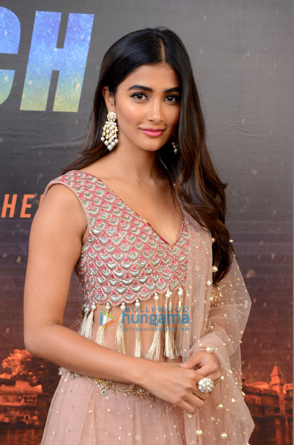 Pooja Hegde at the poster launch of Telugu movie 'Saakshyam'
