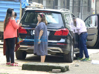 Farah Khan spotted at Film City