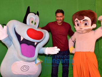 Golmaal Again team shoots with Bheem and Oggy and the Cockroaches