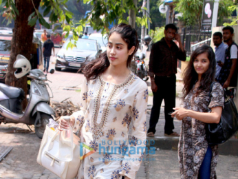 Jahnavi Kapoor snapped after dance rehearsal in Bandra