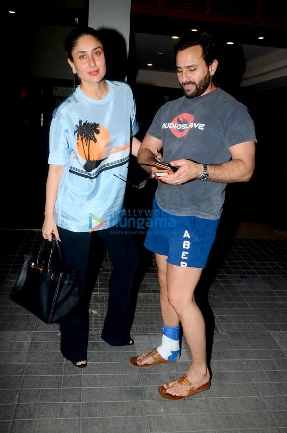 Kareena Kapoor Khan and Saif Ali Khan snapped arriving with baby Taimur to celebrate Soha Ali Khan's birthday