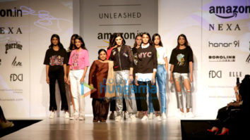 AIFW 2017: Nargis Fakhri and Milind Soman walks the ramp in New Delhi