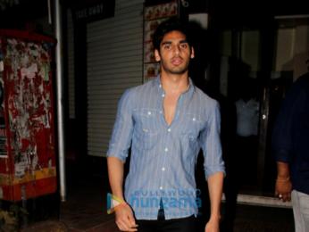 Rishi Kapoor, Iulia Vantur and Ahan Shetty snapped in Bandra