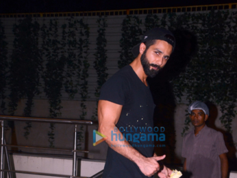 Shahid Kapoor snapped outside his gym