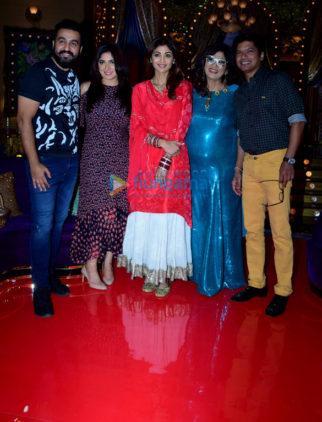 Shaan and wife Radhika shoot Karva Chauth special for Shilpa Shetty Kundra's show Aunty Boli Lagao Boli