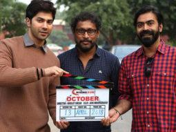 Varun Dhawan on the sets of Shoojit Sircar's October