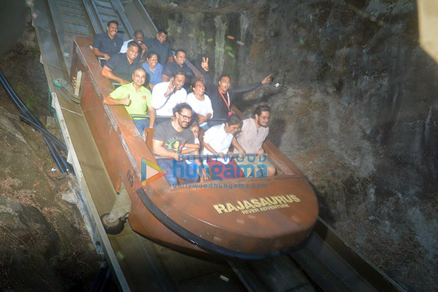 Aamir Khan and Kiran Rao celebrate Azad's sixth birthday a week before by taking him to a theme park!3