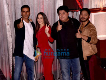 Akshay Kumar, Elli Avram, Sajid Khan and Shreyas Talpade spotted on the sets of 'The Great Indian Laughter Challenge'