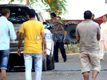 Amitabh Bachchan spotted at the Filmcity for an ad shoot