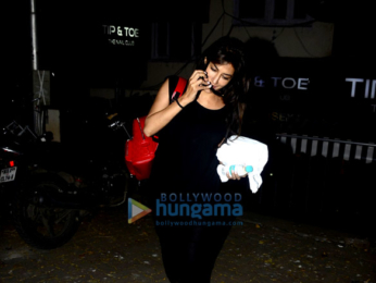Chitrangda Singh snapped at a salon