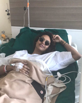 Esha Gupta poses in style even during her hospitalization