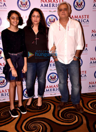 Hansal Mehta and family snapped attending the Namaste America jazz concert