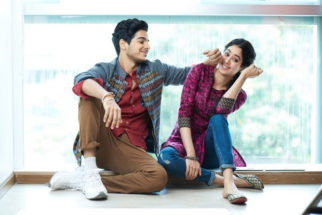 On the sets of Dhadak Ishaan Khatter and Janhvi Kapoor goofing around in this candid shot is adorable