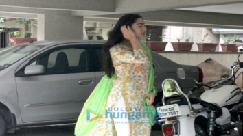 Sara Ali Khan snapped at Abhishek Kapoor's office