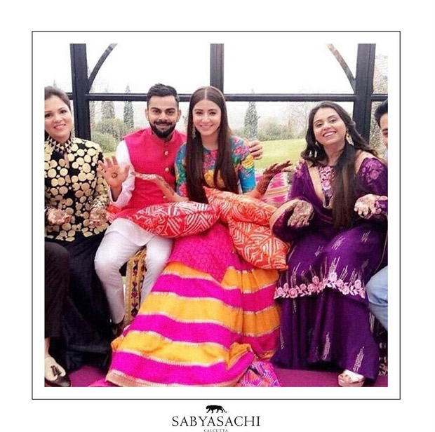 Here's how Anushka Sharma's Sabyasachi engagement sari was created