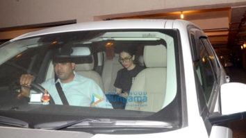 Karisma Kapoor, Randhir Kapoor and Babita snapped at Kareena Kapoor Khan's house