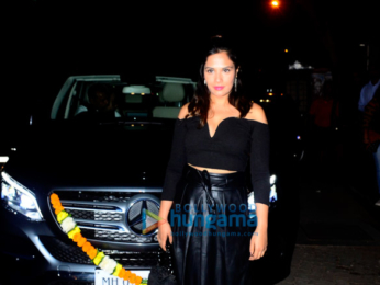 Richa Chadda and Ali Fazal snapped outside Harry's Bar and Cafe in Juhu