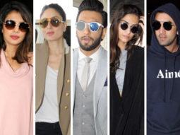 Weekly airport style Priyanka C, Ranveer Singh, Sonam Kapoor, Ranbir Kapoor give us some serious winter fashion goals!